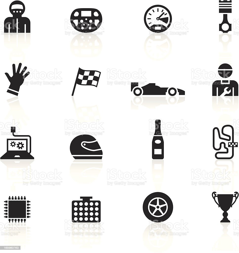Black Symbols - Formula One royalty-free stock vector art