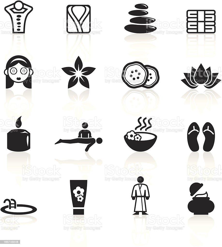 Black Symbols - Spa & Wellness royalty-free stock vector art