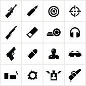 Black Target Shooting Icons