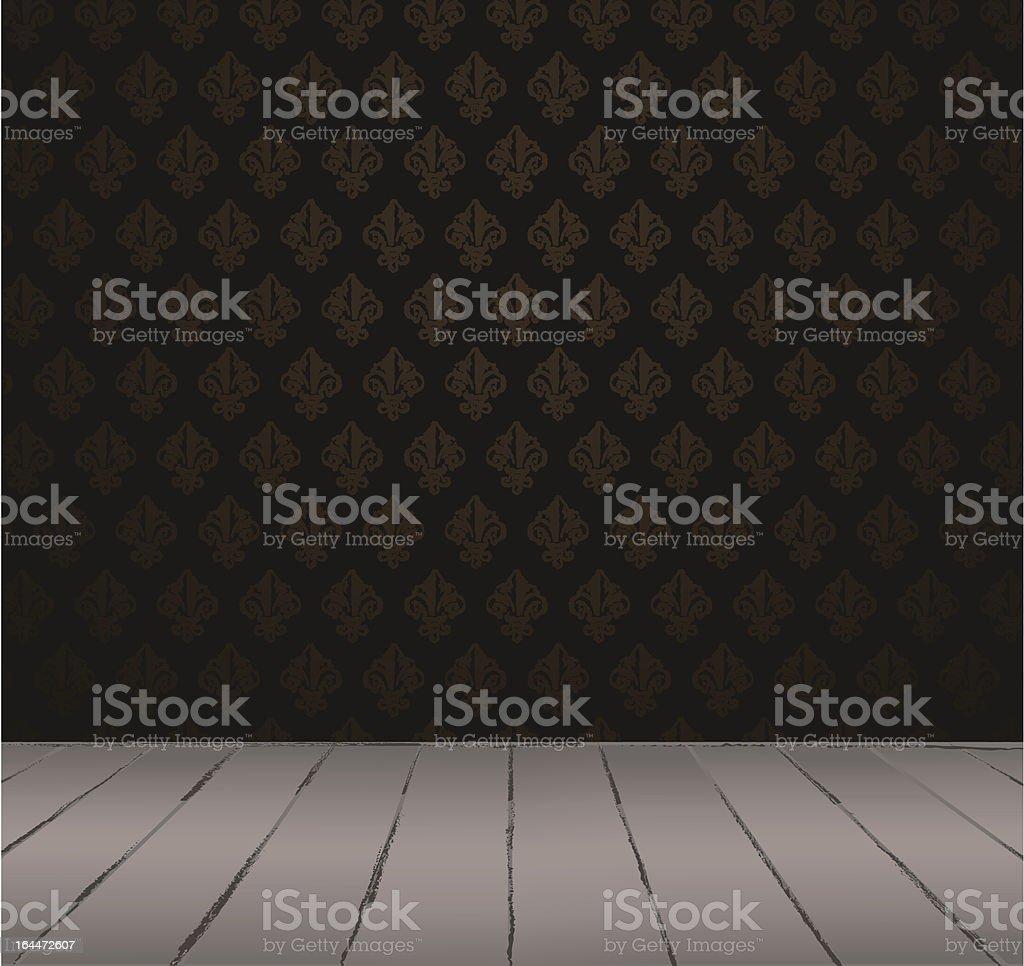 Black vintage interior royalty-free stock vector art