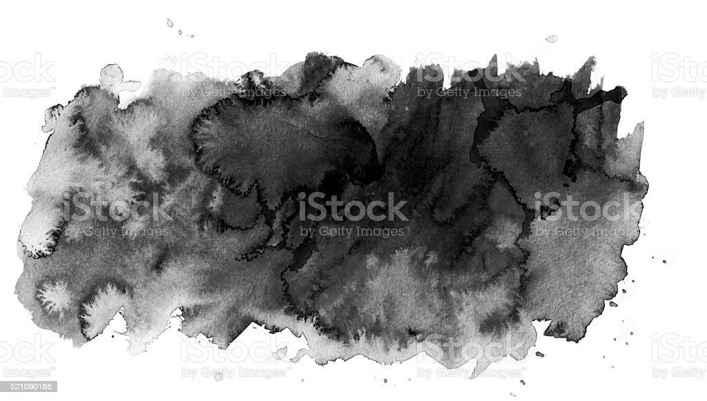 Black  watercolor spot vector art illustration