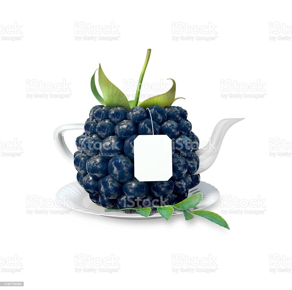blackberry à thé stock vecteur libres de droits libre de droits