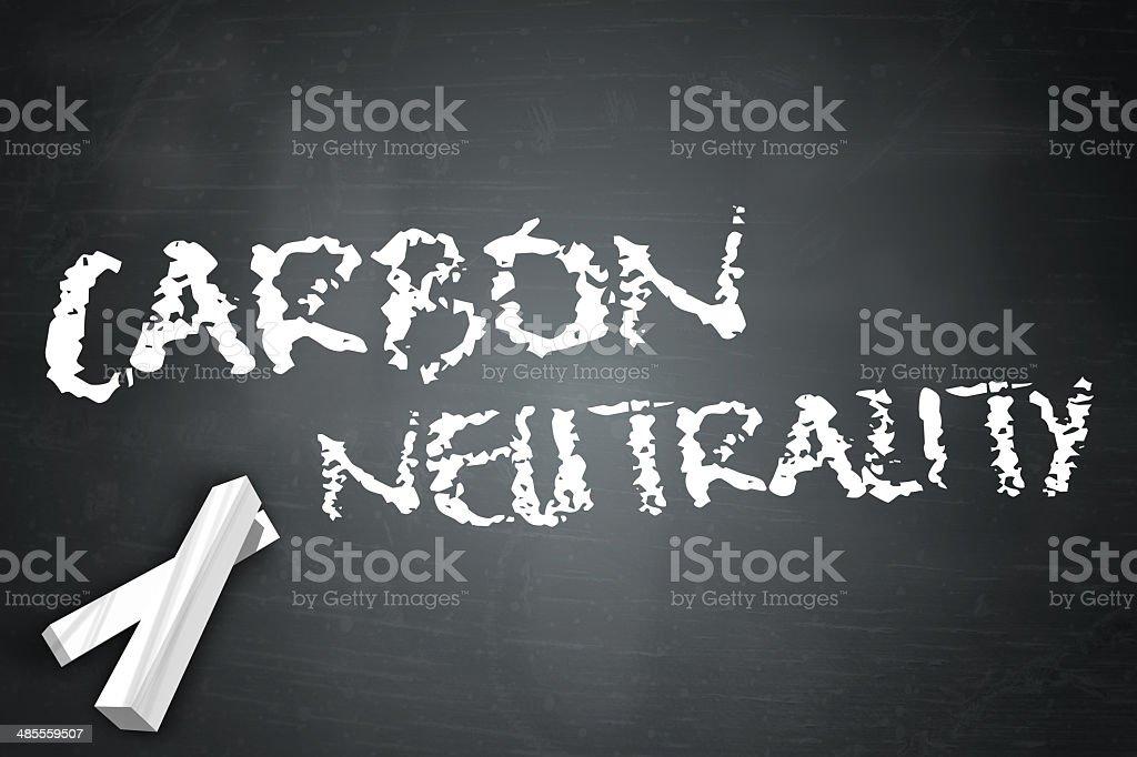 Blackboard Carbon Neutrality vector art illustration