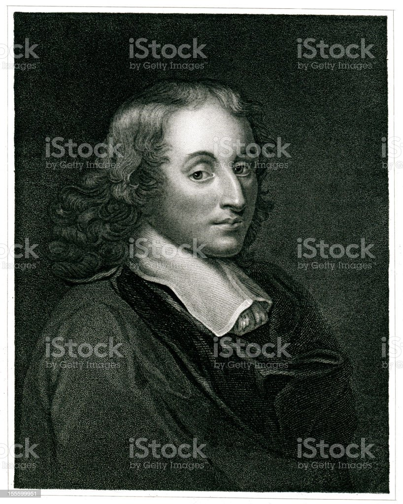 Blaise Pascal royalty-free stock vector art