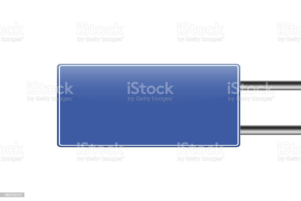 Blanck blue road sign. vector art illustration