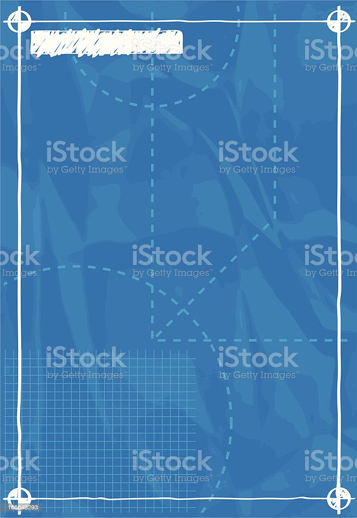 blank blueprint vector art illustration