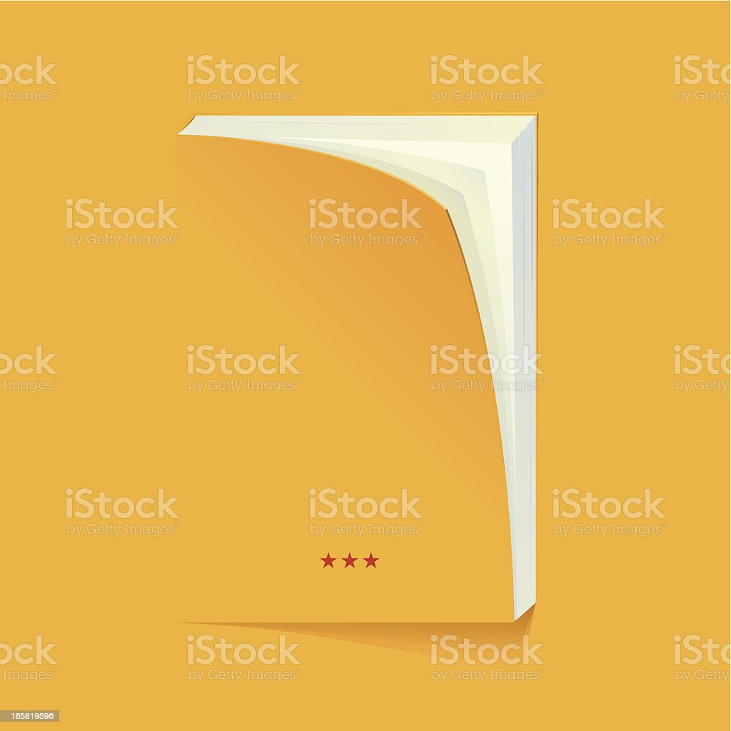 blank book vector art illustration