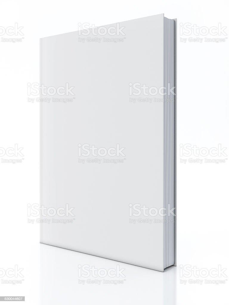 Blank book isolated over white vector art illustration