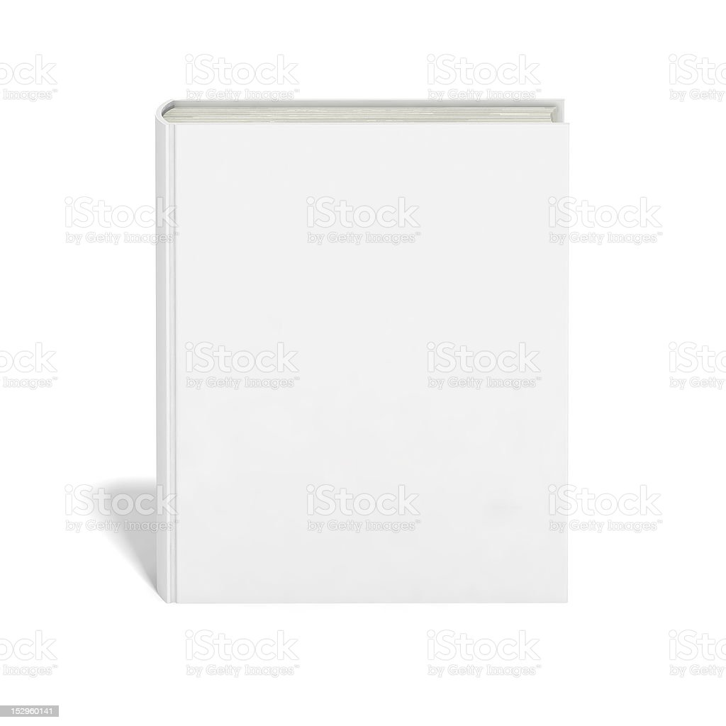 Blank book with white cover royalty-free stock vector art