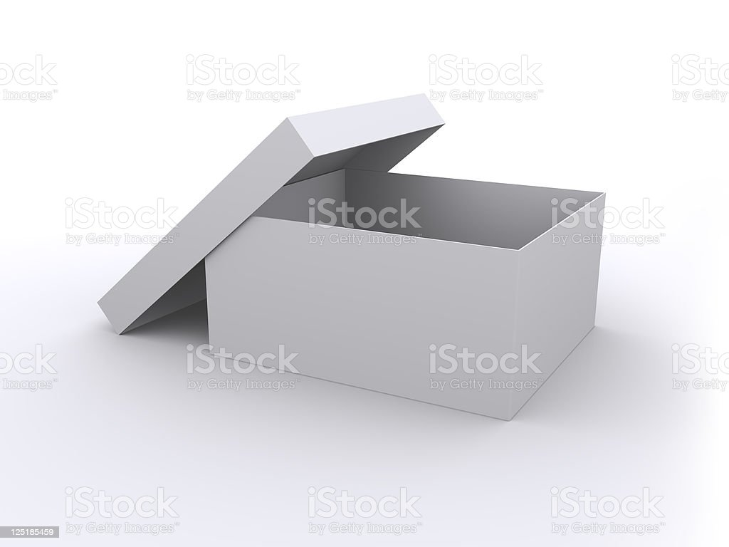Blank box royalty-free stock vector art