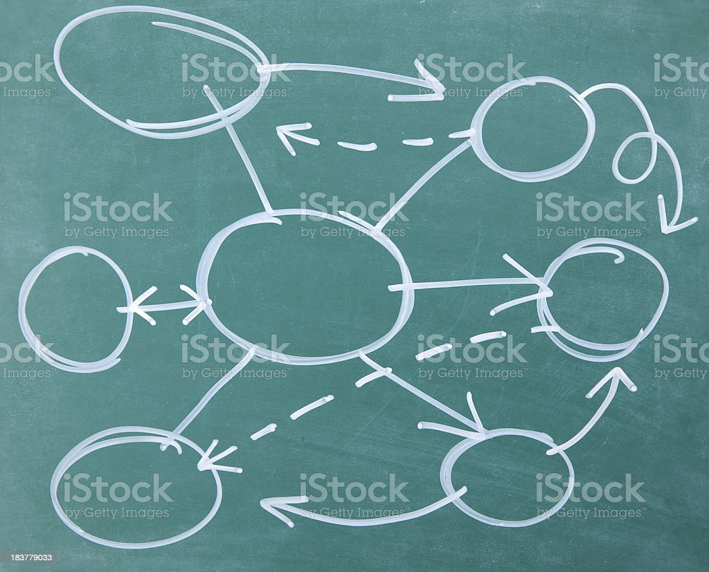 Blank business plan on blackboard royalty-free stock vector art