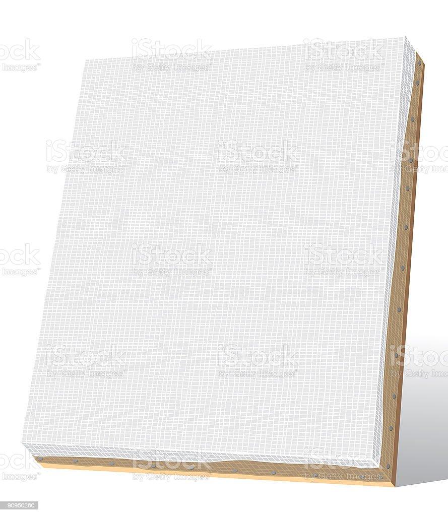blank canvas vector art illustration