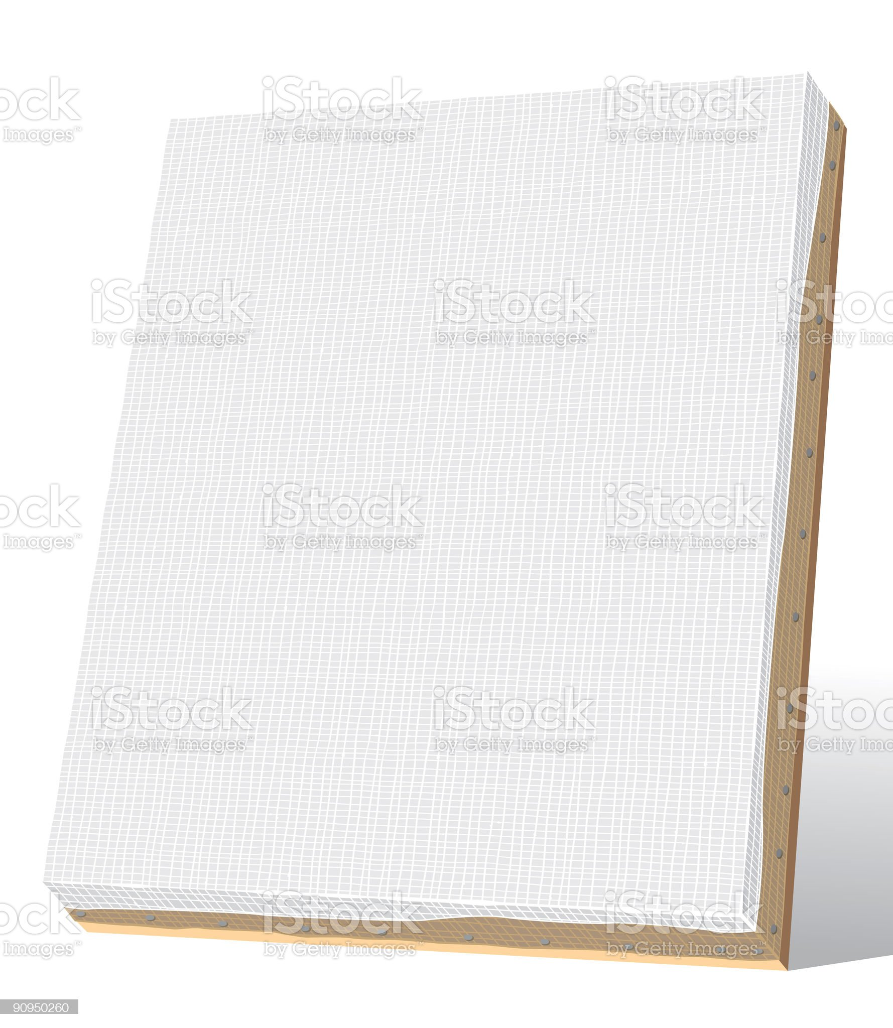 blank canvas royalty-free stock vector art