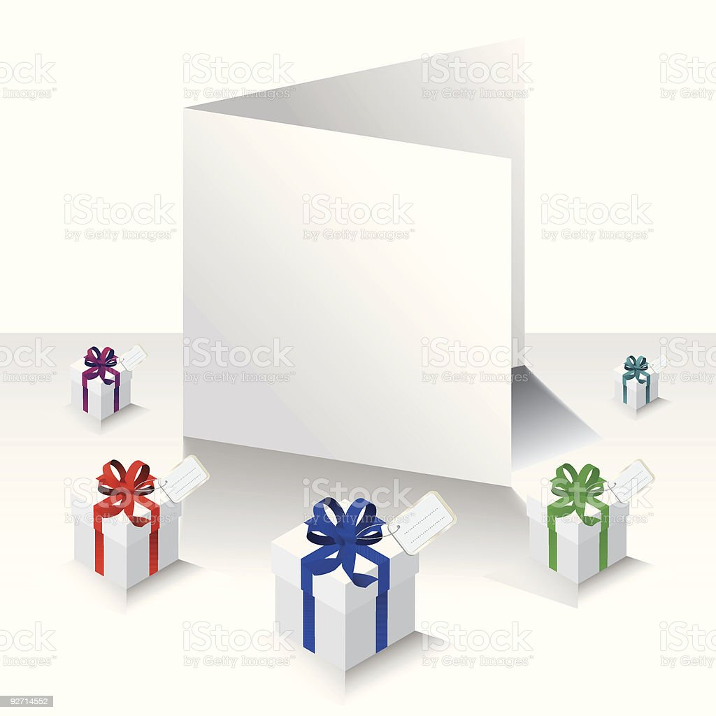 Blank card with presents royalty-free stock vector art