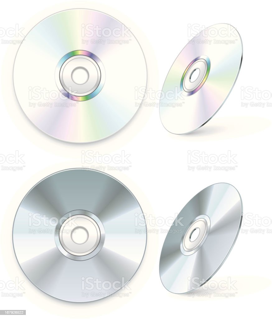 Blank CD/DVD vector art illustration