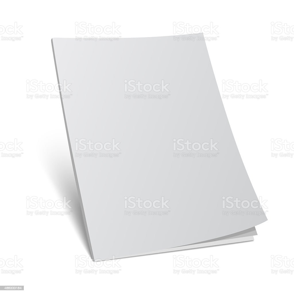blank cover 3d magazine mock template vector art illustration