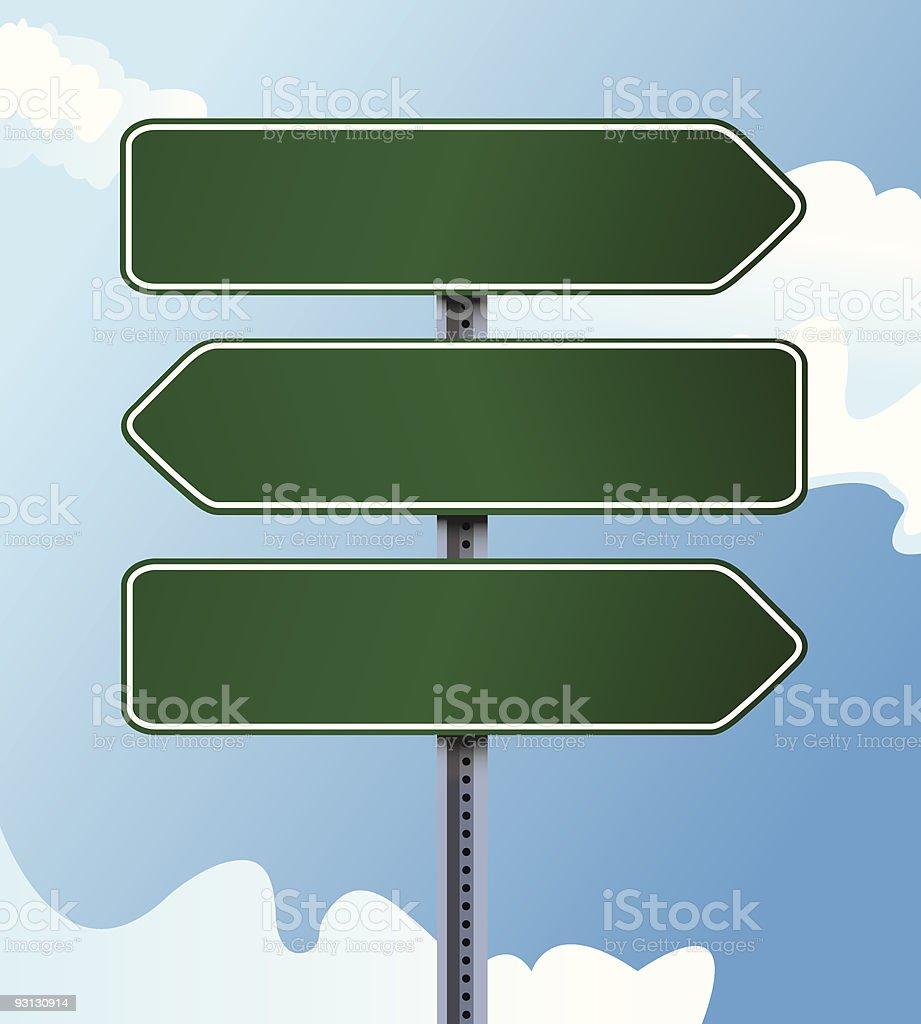Blank Directional Signs royalty-free stock vector art