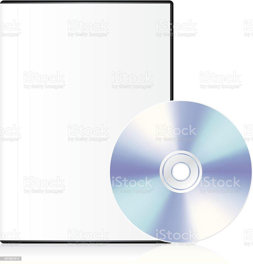 Blank dvd case royalty-free stock vector art