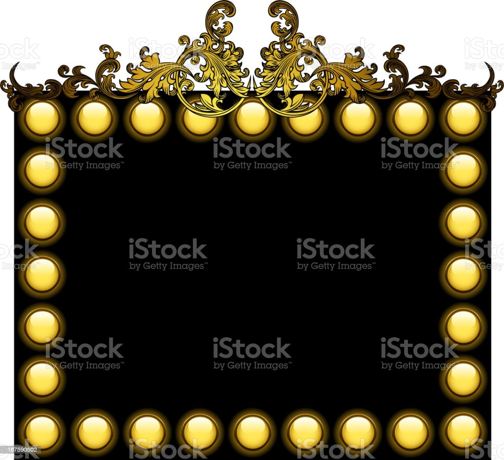 blank entertainment frame royalty-free stock vector art