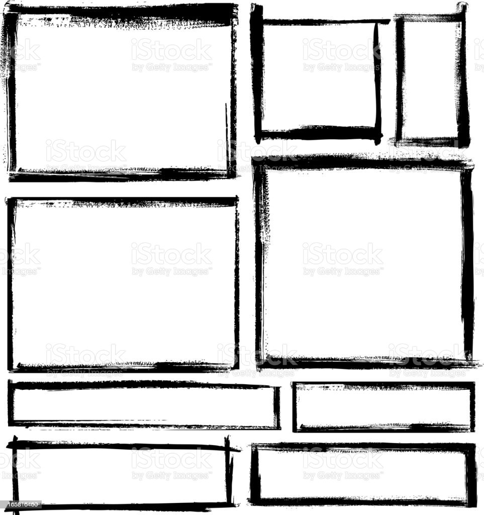 blank frame set vector art illustration