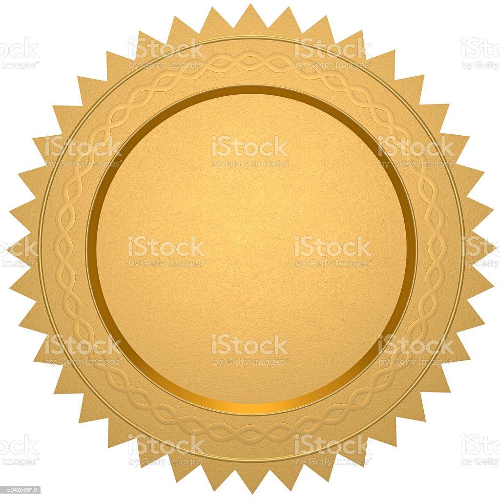 Blank gold certificate vector art illustration