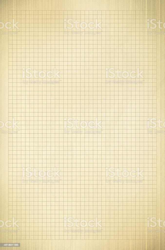 Blank graph paper in textured gold vector art illustration