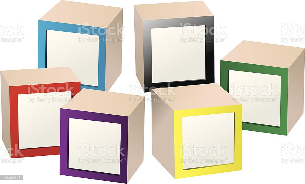 Blank Kids Blocks vector art illustration