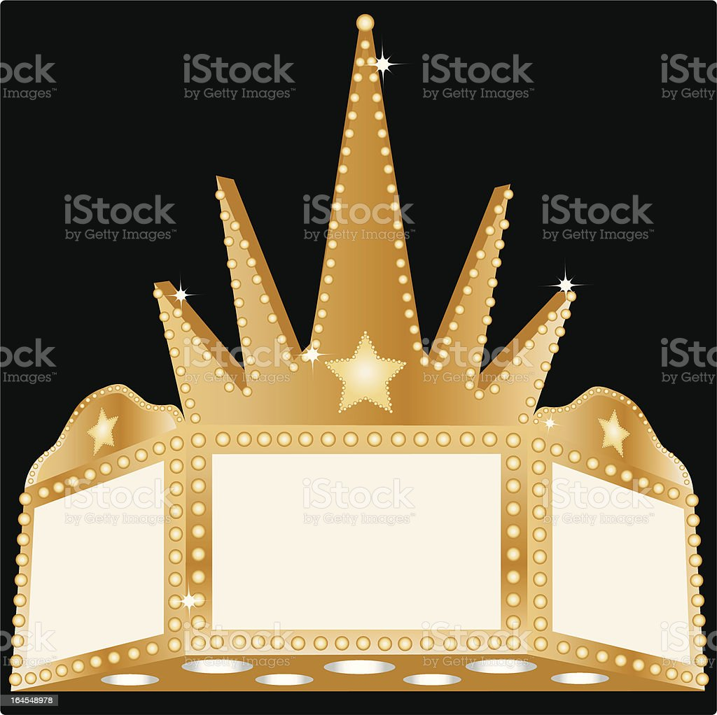 Blank Marquee royalty-free stock vector art