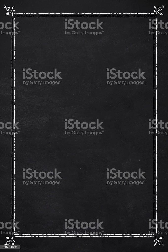 Blank menu vector art illustration