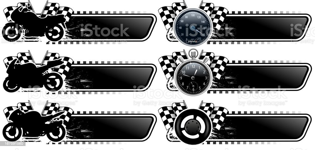blank motorcycle banner set royalty-free stock vector art