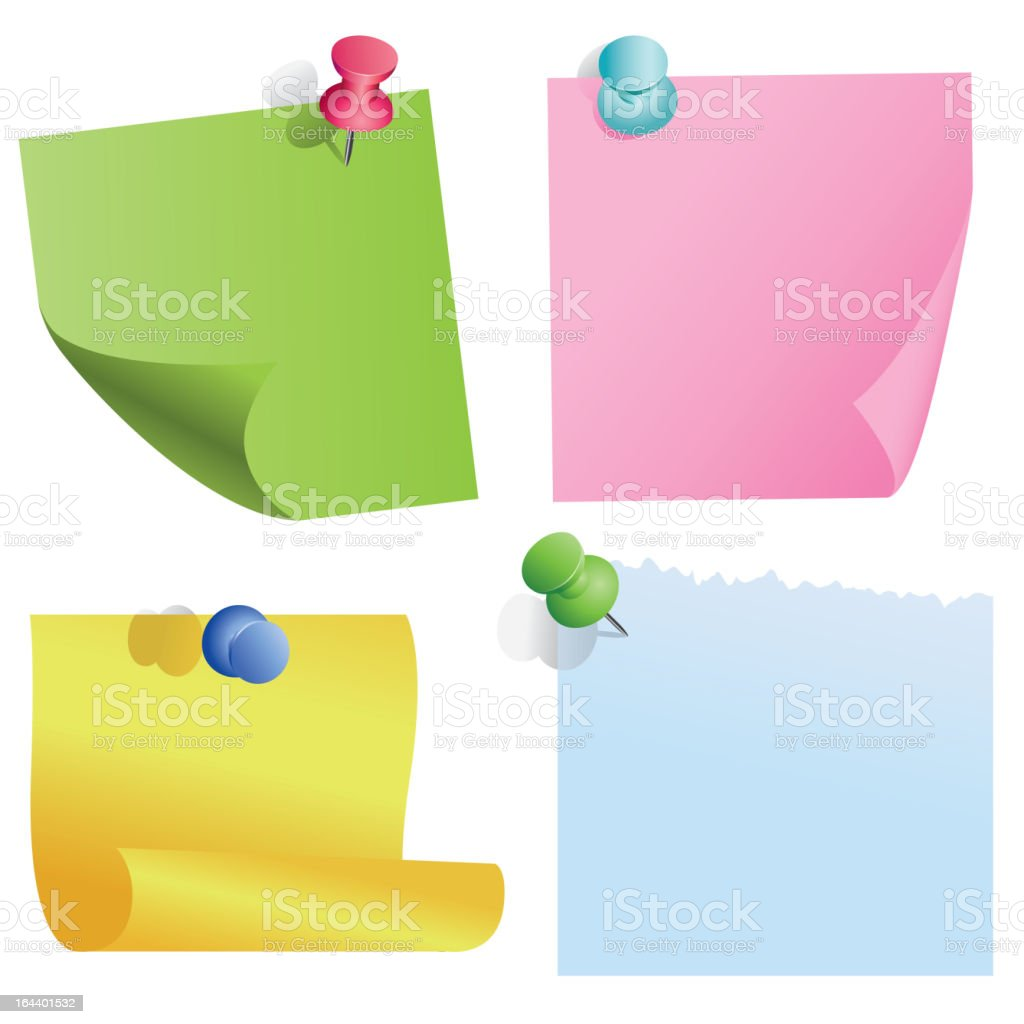 blank notes royalty-free stock vector art