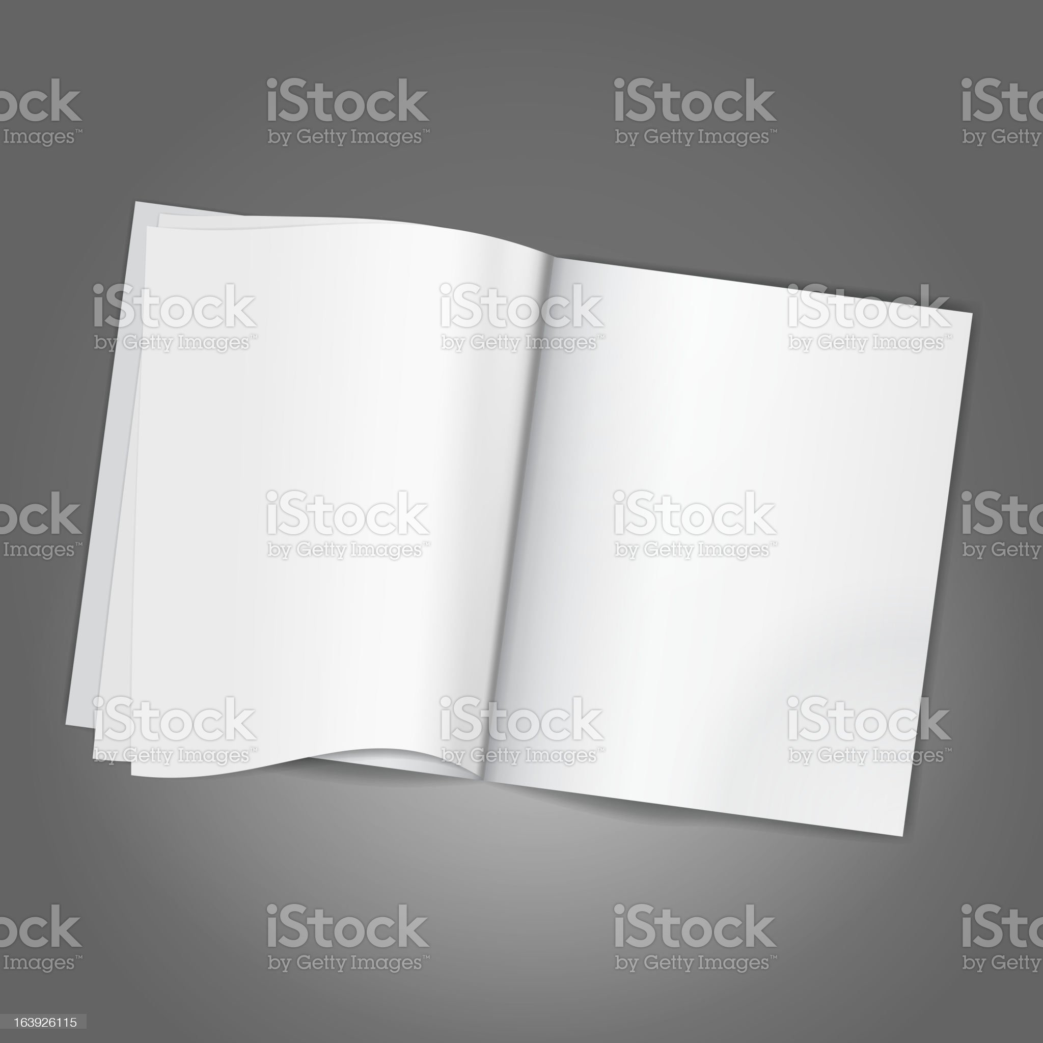 Blank Page royalty-free stock vector art