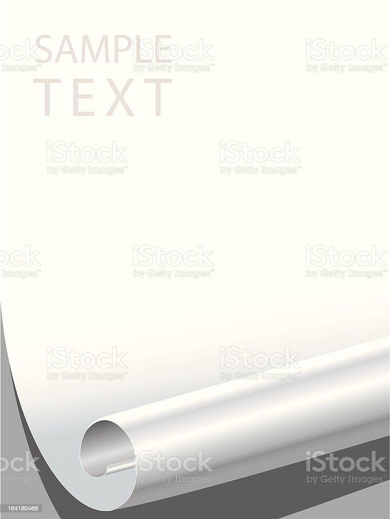 blank paper corner bended royalty-free stock vector art