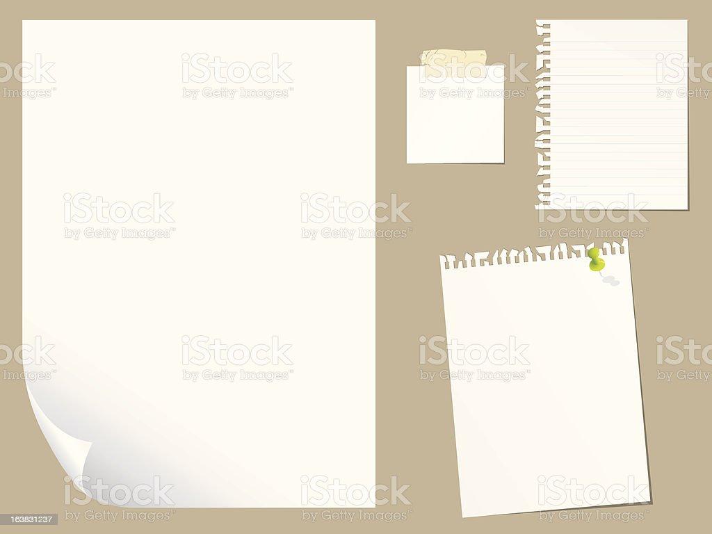 Blank paper set royalty-free stock vector art