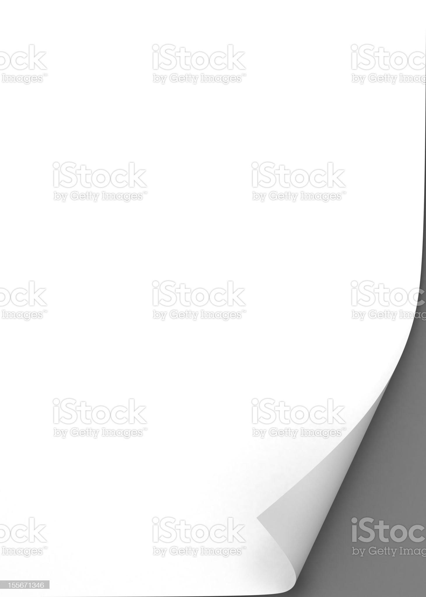 blank paper sheet royalty-free stock vector art