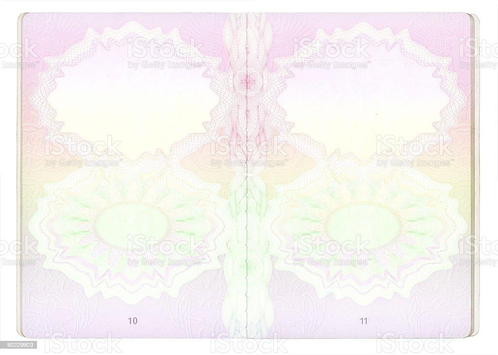 Blank Passport pages - XXXL vector art illustration