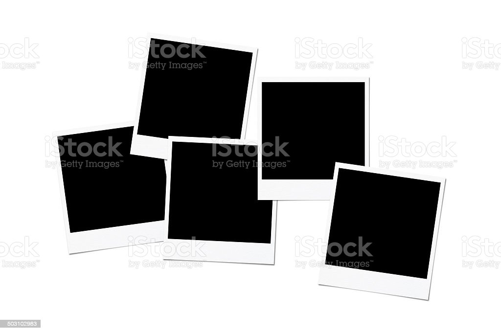 Blank photo vector art illustration