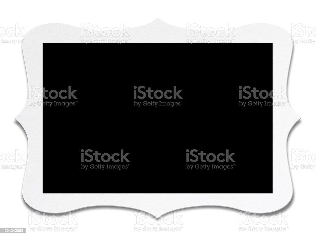 Blank photo vector art illustration