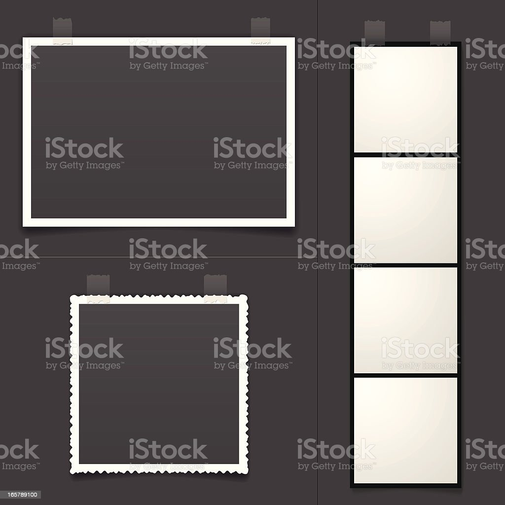 Blank Photos vector art illustration