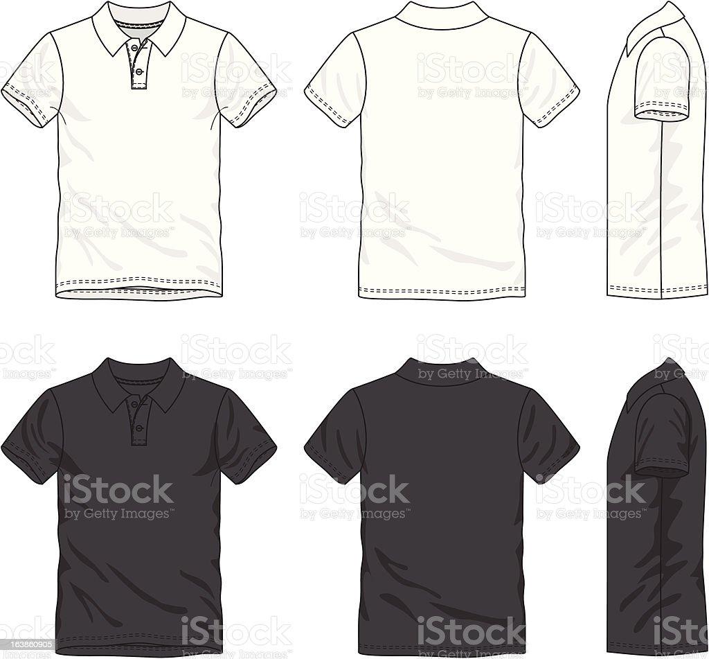 Blank polo t-shirt vector art illustration