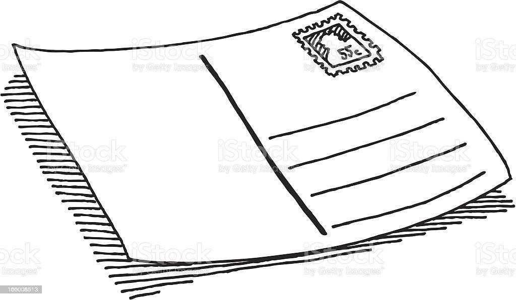 Blank Postcard Drawing royalty-free stock vector art