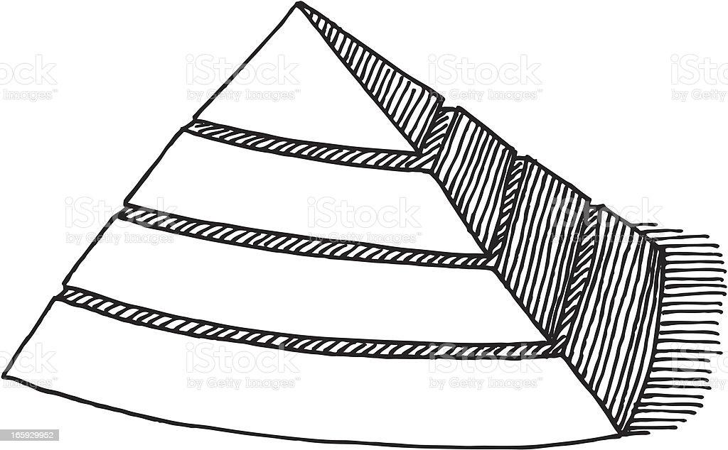 Blank Pyramid Symbol Drawing royalty-free stock vector art