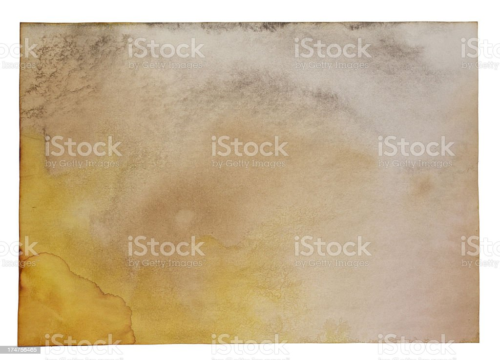 Blank Rusty Aged Torn Parchment Papyrus Grunge Paper Texture royalty-free stock vector art