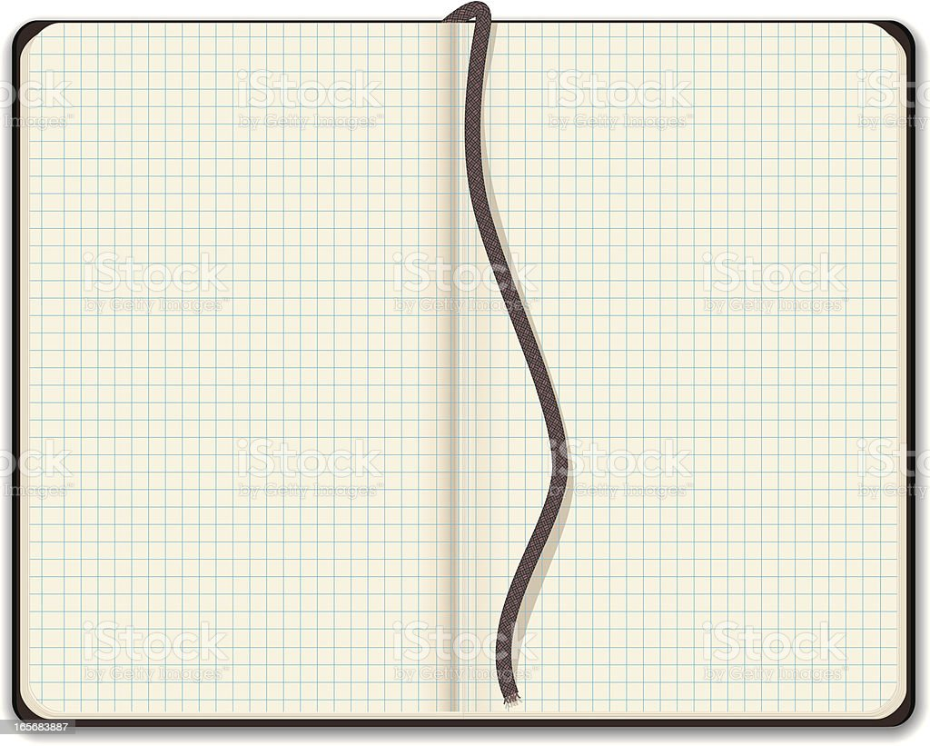 Blank Sketchbook with Graph Paper royalty-free stock vector art