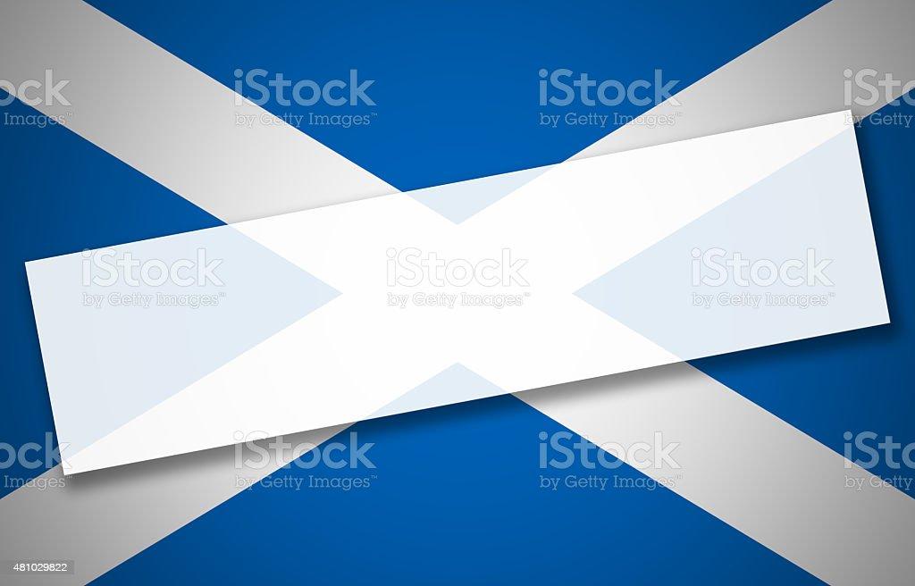 Blank Space on National Flag of Scotland vector art illustration