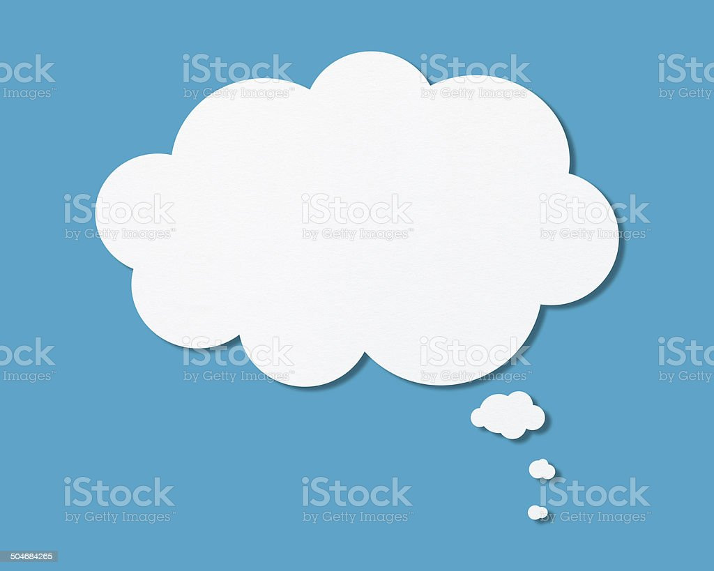 Blank speech bubbles (drop shadow) vector art illustration