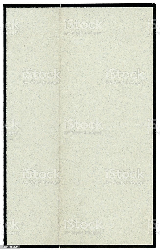 Blank Victorian mourning note paper royalty-free stock vector art