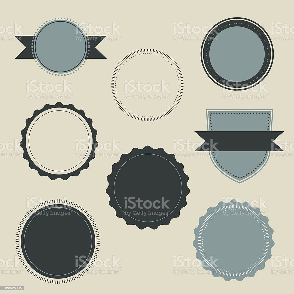 Blank Vintage Labels vector art illustration