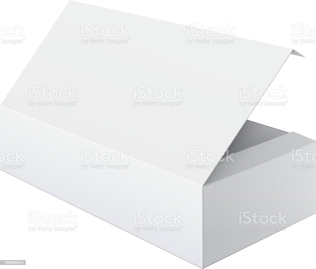 Blank white box opened royalty-free stock vector art