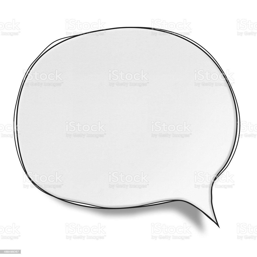 Blank White Speech Bubbles (Clipping Path) vector art illustration
